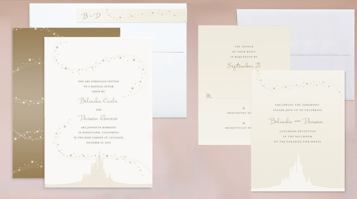 Enchanted Stars Wedding Invitation Suite JODY WORTHINGTON - Wedding invitation templates: disney wedding invitation templates