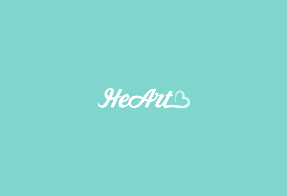Logo concept for HeArt, a soon-to-come lifestyle brand and online community.   Client: HeArt