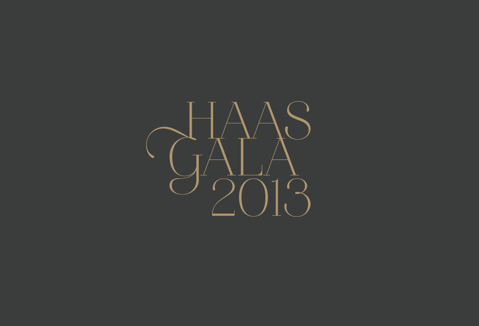 Logotype for the UC Berkeley Haas School of Business annual gala. Client: University of California, Berkeley