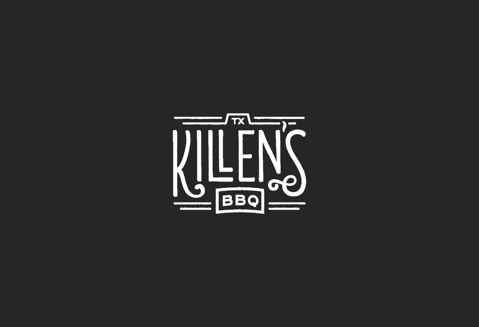 Hand-lettered logo concept for Killen's Barbecue. Client: Kimberly Park Communications