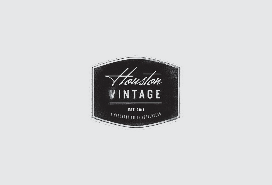Crest for an annual celebration of vintage fashion, beauty, cars, and music.   Client: Houston Vintage
