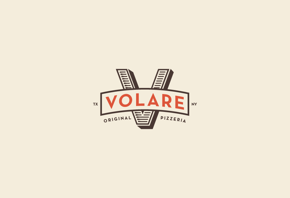 Identity re-design for Volare Pizzeria in Houston. Client: Kimberly Park Communications