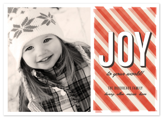 Offset Stripes Holiday Card