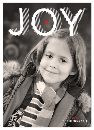 Joy Stripes Holiday Card