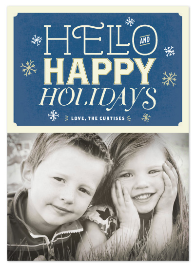 Antique Typography Holiday Card