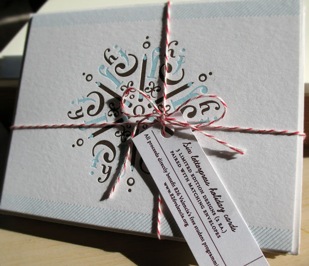 Snowflake Letterpress Holiday Card