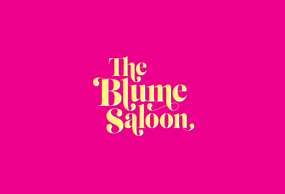 Logo for a book club podcast based on Judy Blume books. www.theblumesaloon.com