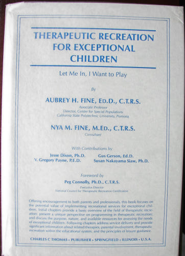 Therapeutic Recreation for Exceptional Children