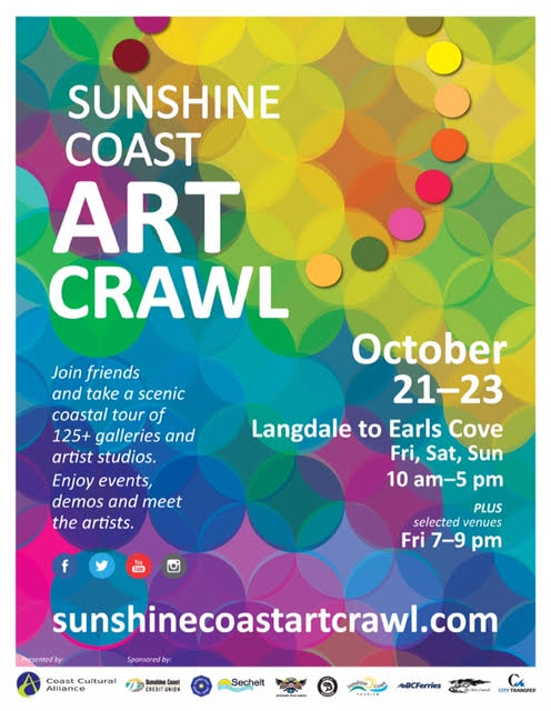 Sunshine Coast Art Crawl 2016     Kez Sherwood & Nadina Tandy invite you: studio 201-287 Gower Pt. Rd. venue 20 & 21