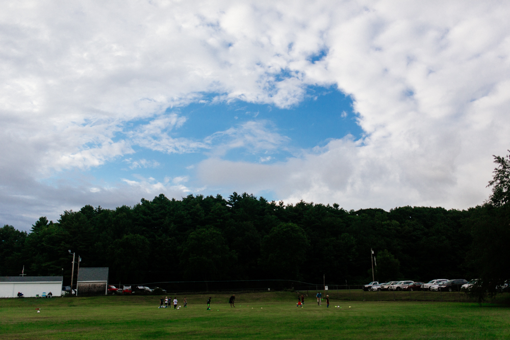 286/365 soccer practice and a patch of blue sky on a cloudy day