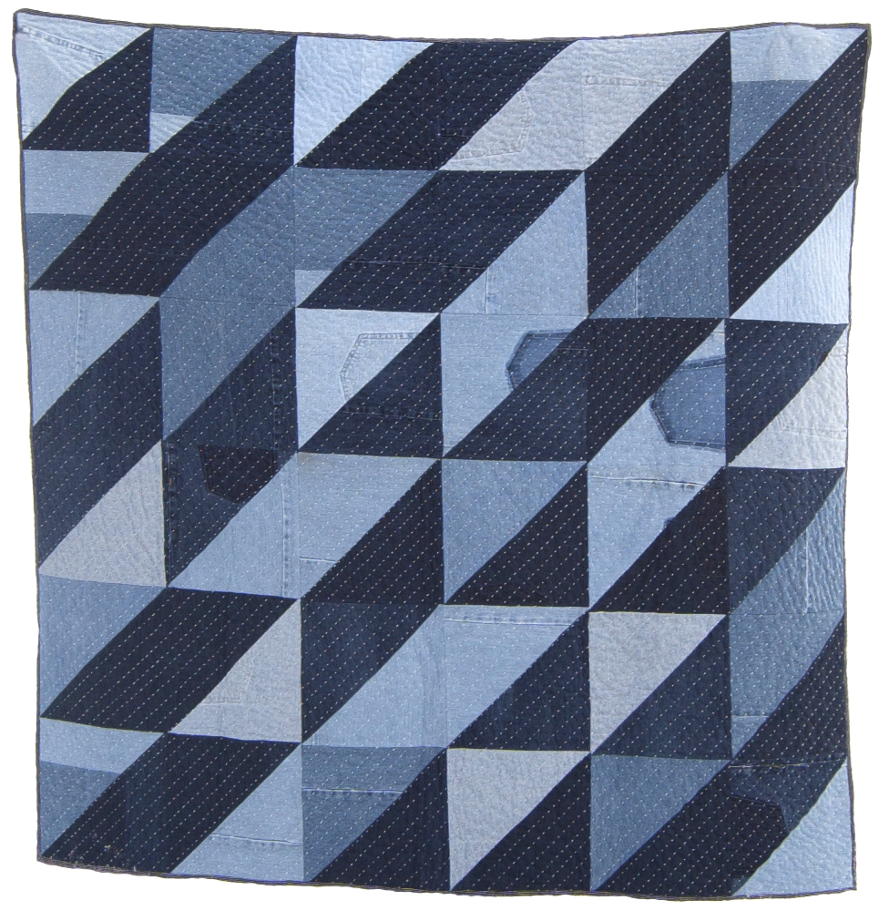 the denim triangle quilt