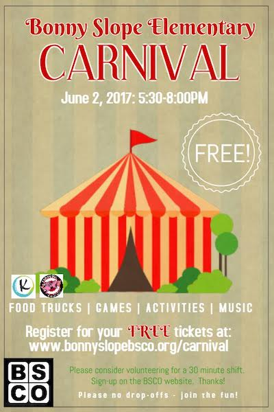 sign up for free carnival tickets now bonny slope community