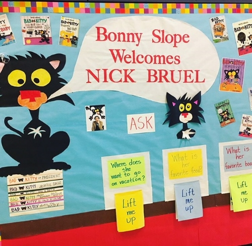 BSE welcomed visiting author, Nick Bruel, last fall.
