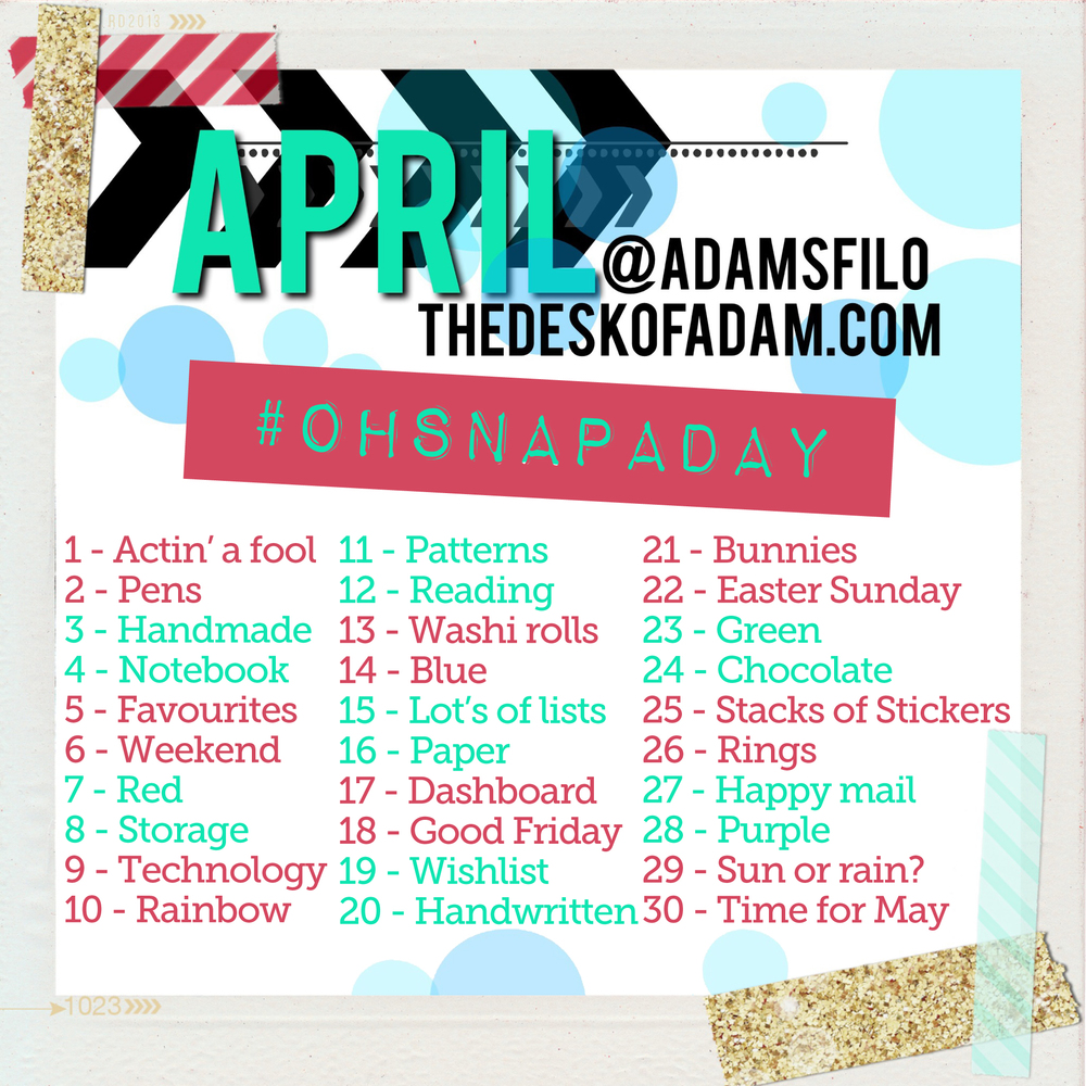Here are the daily prompts for each day's photo!