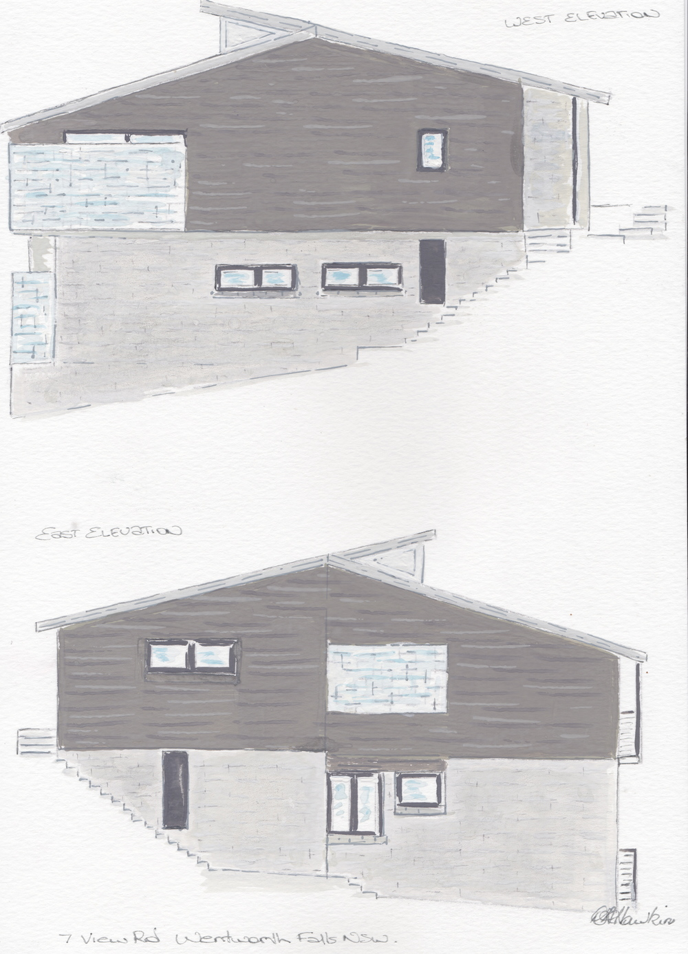 exterior render wentworth falls