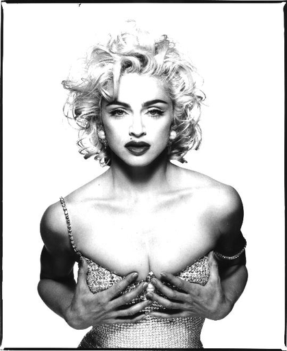1. Patrick Demarchelier  2. Madonna  3. 1990  4. Gelatin silver print  5. Represented by Art and Commerce gallery