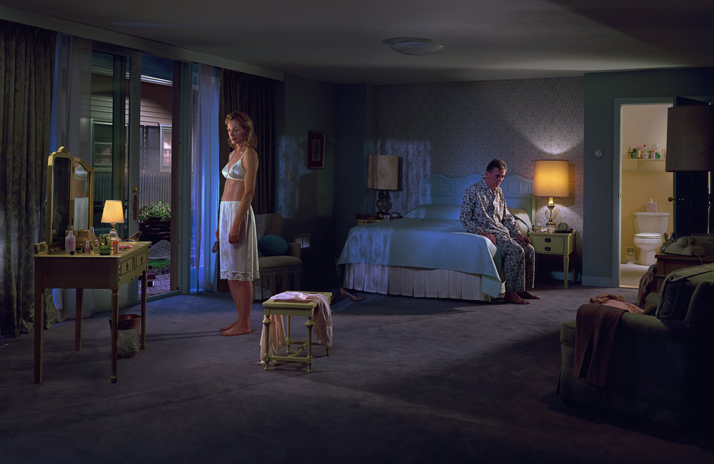 1. Gregory Crewdson  2. Untitled, 'Beneath the Roses'  3. 2004  4. Digital chromogenic print  5. Represented by White Cube gallery