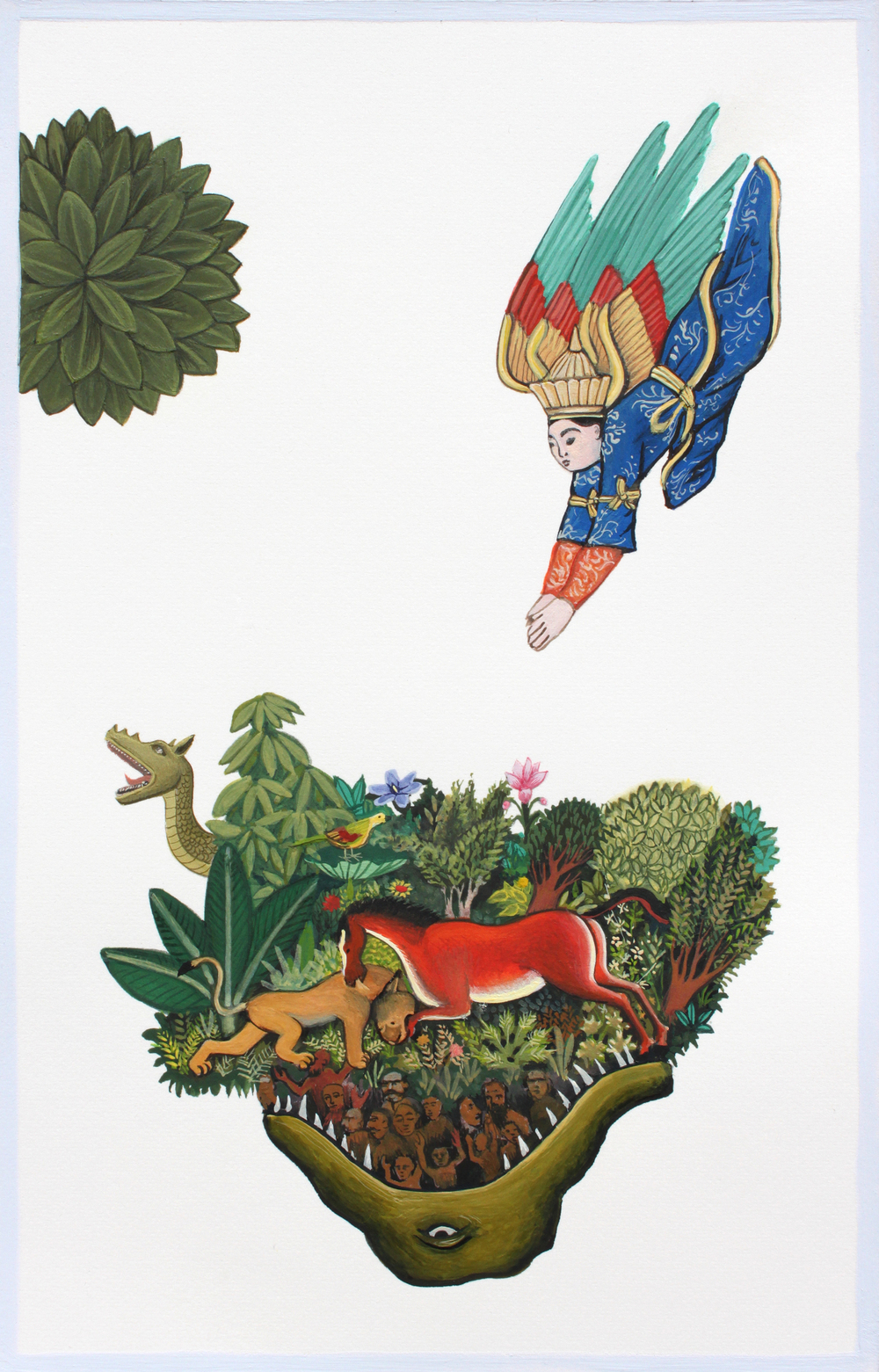 Wherefore I Know Not 2013 gouache on paper 8 x 5 inches available at the 13FOREST Gallery