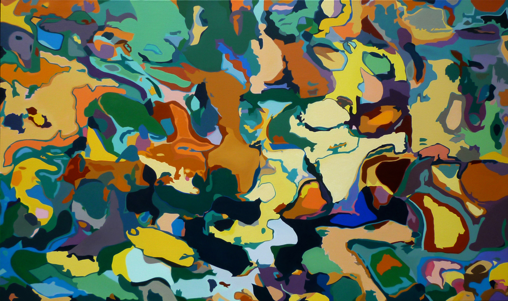 Garden/2009/3x5 feet/oil on linen