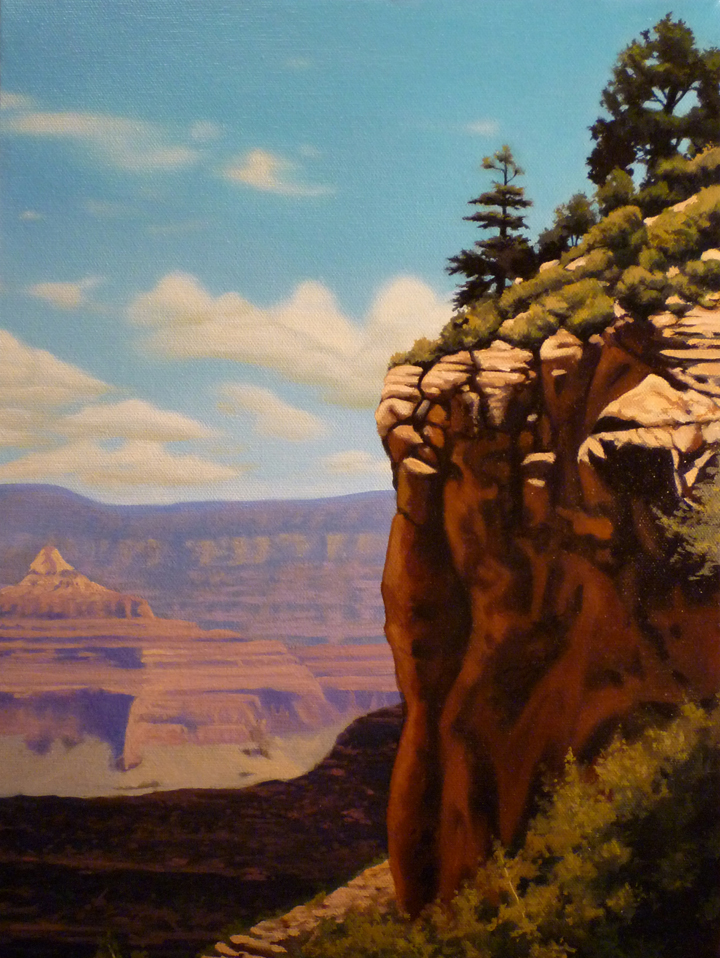 Grand Canyon/ 2012/ oil on canvas/ 14 x 11 inches