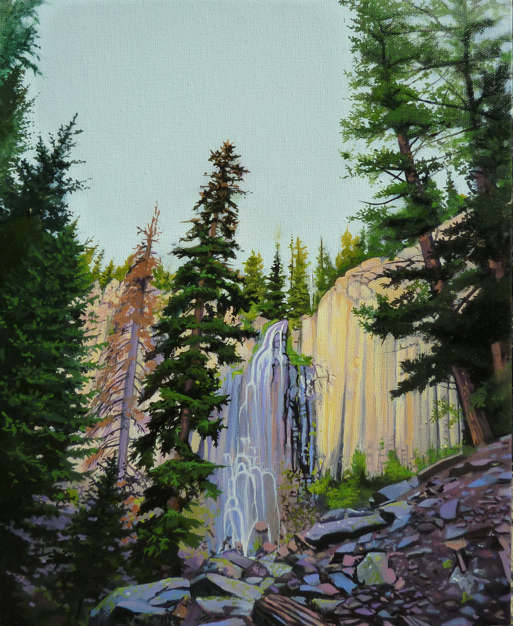 Waterfall/ 2011/ oil on canvas/ 14 x 11 inches