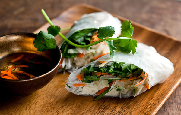 Spring rolls are quite easy to make, and make a light and delicious lunch, appetizer, side dish or snack. You can find the rice flour spring roll wrappers in Asian markets.