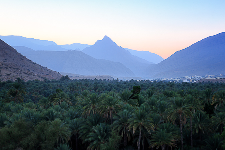 Sunrise over the wadi