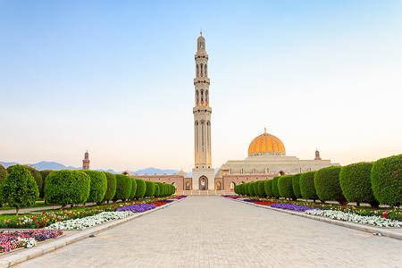 Sultan Qaboos mosque pre-dusk