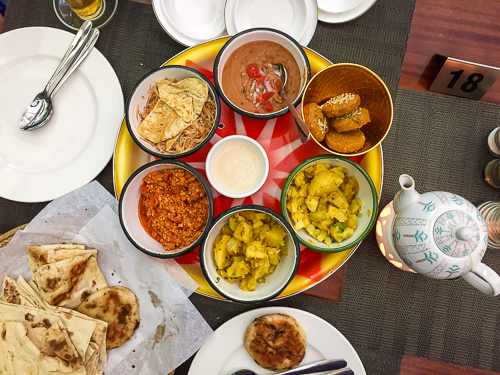 A traditional Bahraini breakfast
