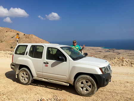 Driving high in the Hajar Mountains