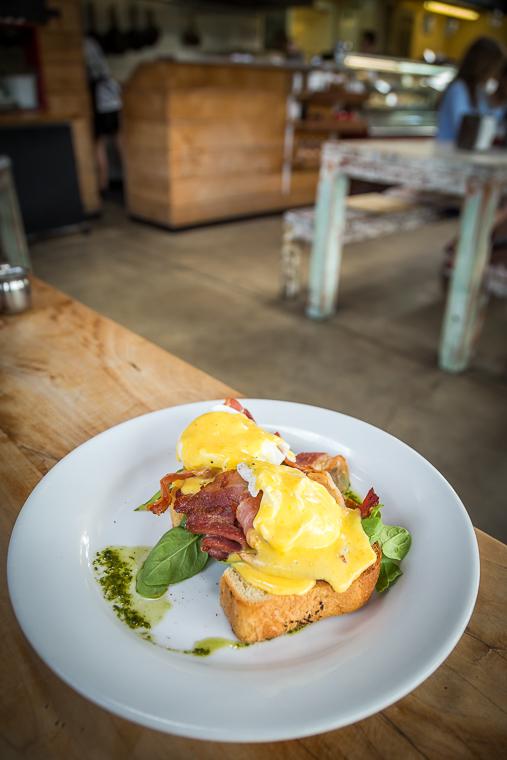 Eggs Benedict Piha Cafe style
