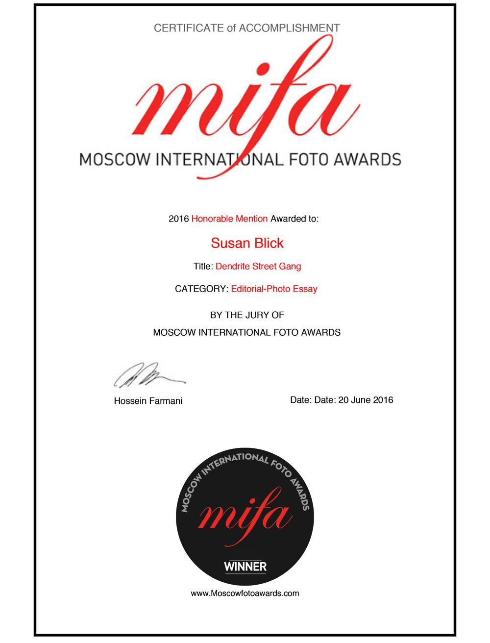 MIFA Award
