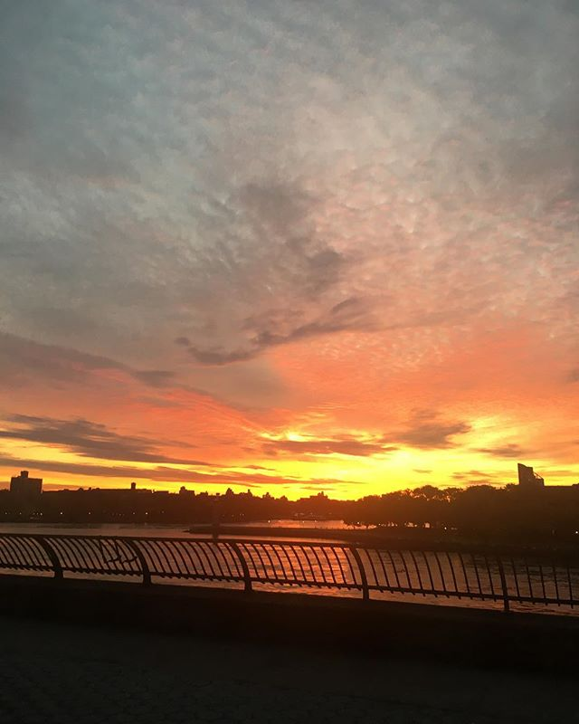 I knew the glorious satisfaction this moment would someday come. The universe has a way of unknotting itself, but only in its own time. . . . #karma #newdawnnewday #sunrise #eastriver #ues #carlschurzpark #morningsky #grateful #sighofrelief