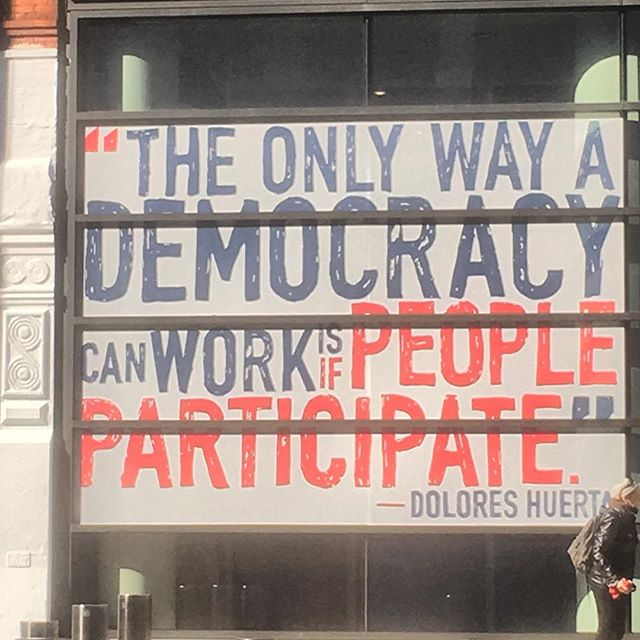 """""""The only way a democracy can work is if people participate."""" - Dolores Huerta . . . VOTE!!! ✊🏻 . . #govote #gettothepolls #letyourvoicebeheard #letyourvotebeyourvoice #vote #voteouthate #whattypeofworlddoyouwant #thisisreal #thisisimportant"""