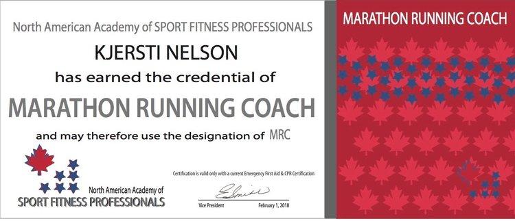 Certified Long Distance Running Coach — Kjersti Nelson, MFTBlog