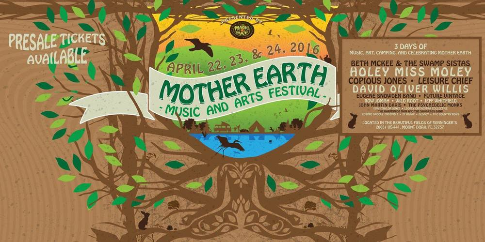 Mother Earth Music & Arts Festival at Renninger's in Mt. Dora with Holey Miss Moley, Leisure Chief & Evan Taylor Jones