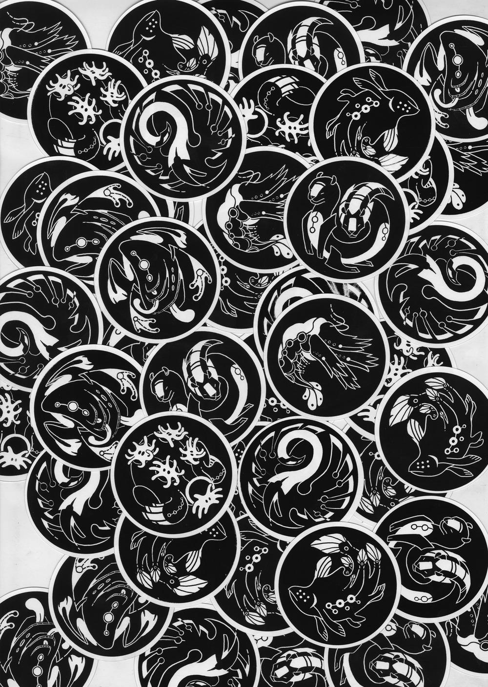 Hand Screenprinted Sticker Set