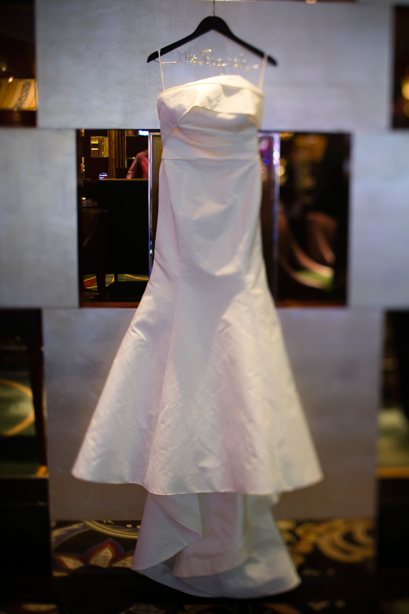 Amsale Bridal Gown. Luxury Interfaith Wedding at Bellagio Las Vegas.