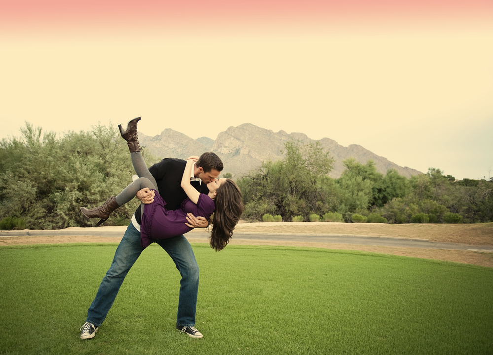 Outdoor Engagement Photos in Tucson, Arizona