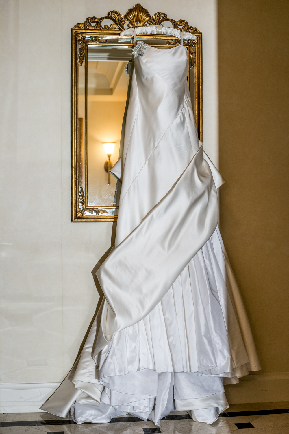 """The Stephanie"" Wedding Gown by Ulla-Maija. An Intimate Wedding at Four Seasons Las Vegas."