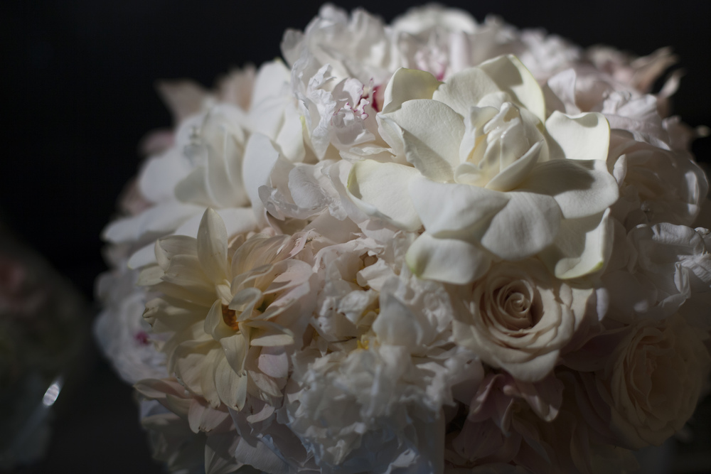 Classic and Timeless Bridal Bouquet by Naakiti Floral. An Intimate Wedding at Four Seasons Las Vegas.