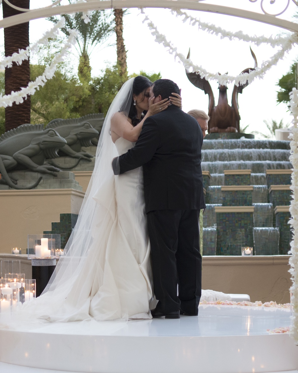 First Kiss - An Intimate Wedding at Four Seasons Las Vegas.