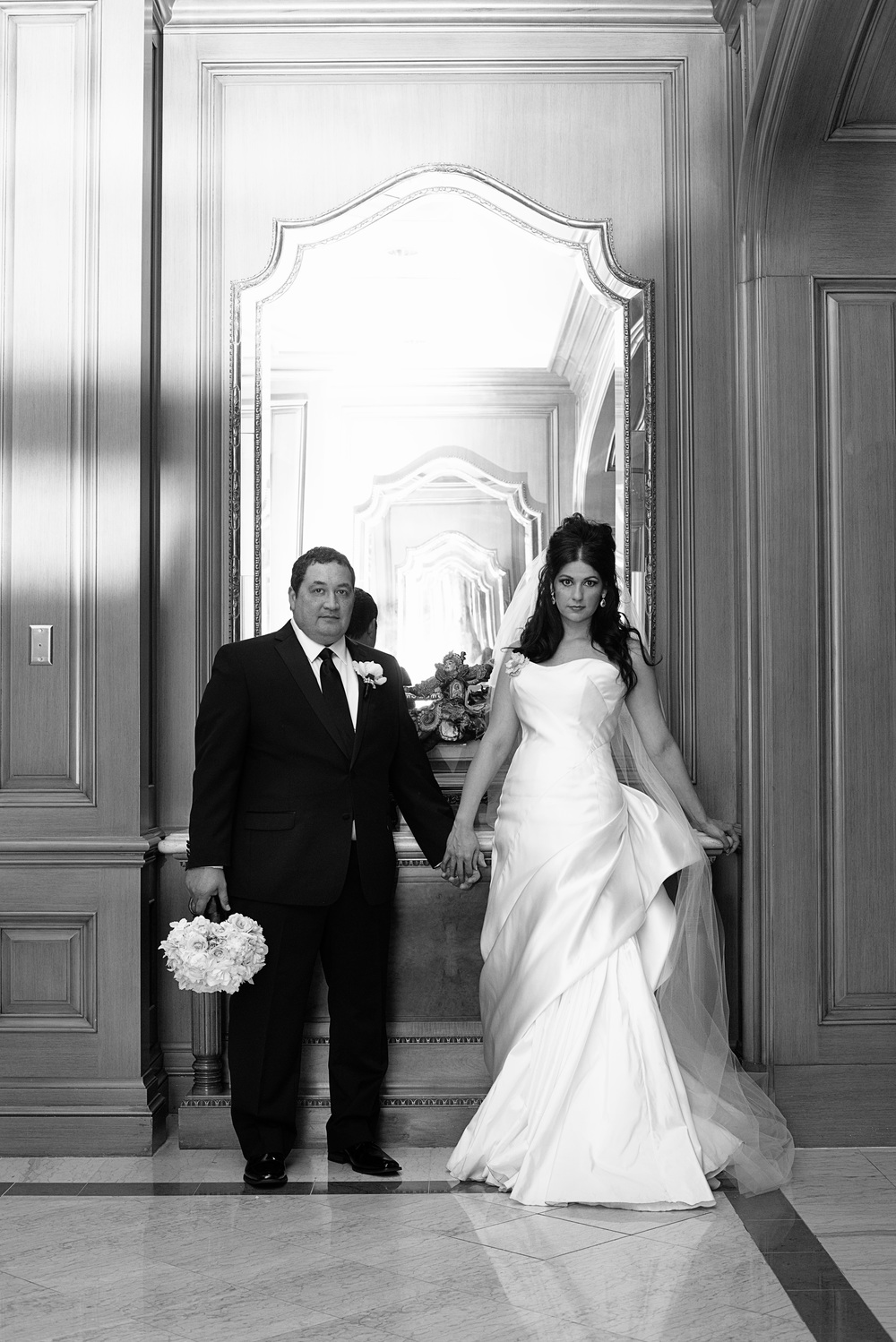 Andrea Eppolito & Tony Fisher: Formal Wedding Portrait. An Intimate Wedding at Four Seasons Las Vegas.