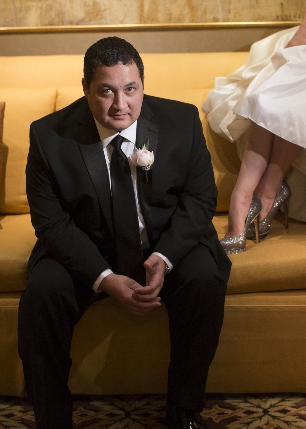 The groom and some sexy shoes - An Intimate Wedding at Four Seasons Las Vegas.