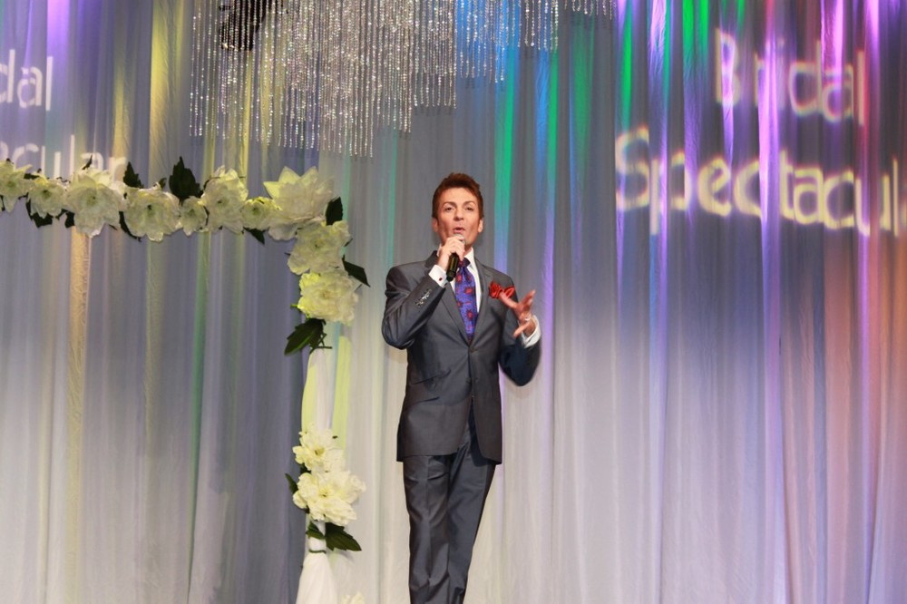 Randy Fenoli speaking at Bridal Spectacular.  Photo by Brian Derck.