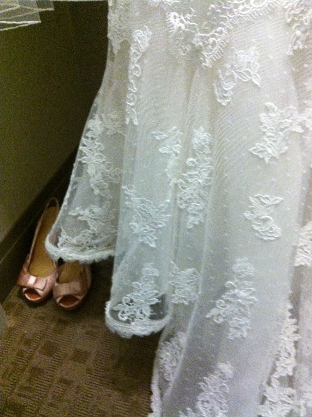 Pretty Blush Wedding Shoes.  Photo by Andrea Eppolito.