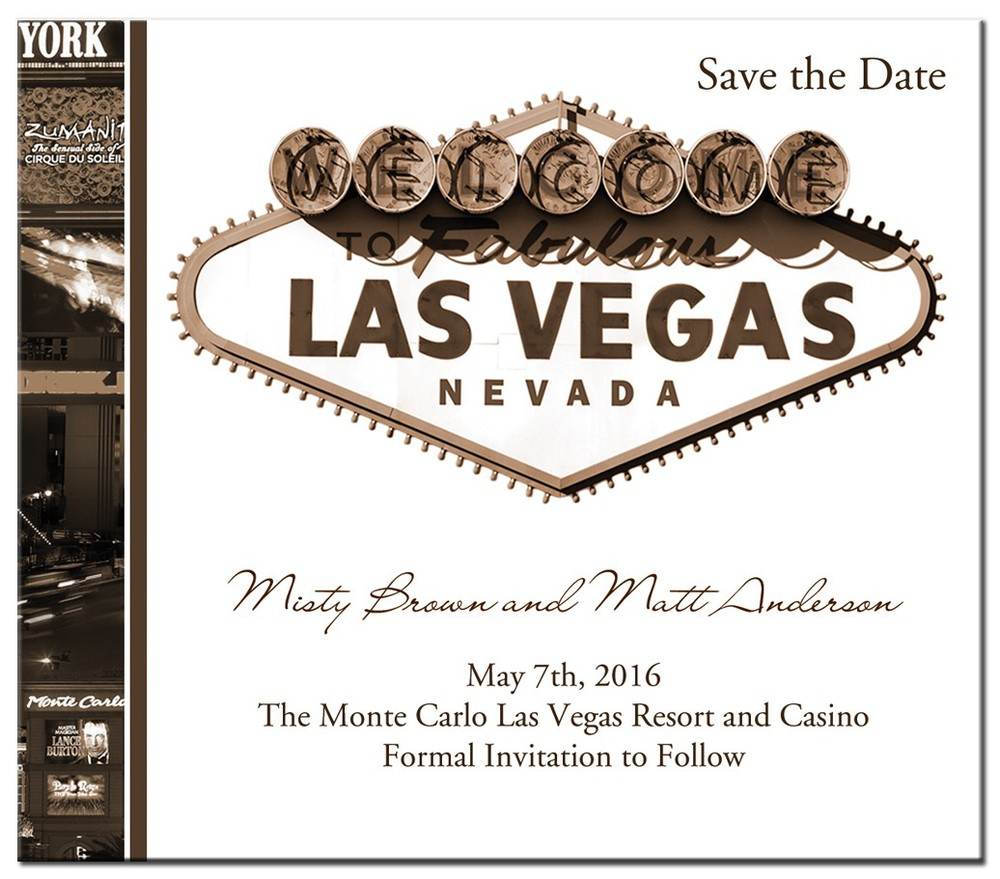 Las Vegas Save the Date Card.