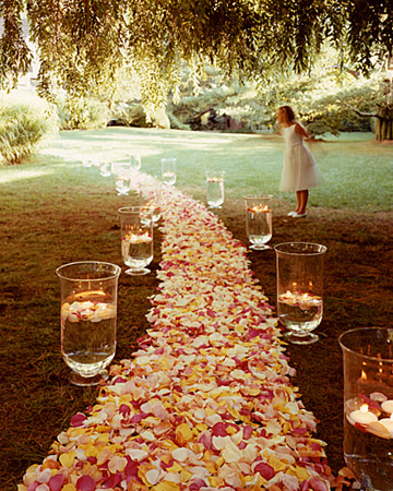 Floating candles in the daytime can be gorgeous!  Photo courtesy of Rebecca Rose Events.