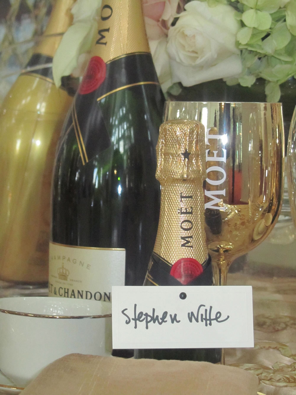 Miniature Bottles of Sparkling Wine. White Glove Butler Service Delivery. What could be more luxurious?