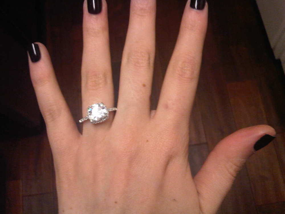 Nicki's Engagement Ring from Daniel.